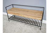 Acacia Solid Wood Storage Bench 2