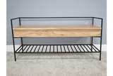 Acacia Solid Wood Storage Bench 3