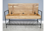 Acacia Solid Wood Storage Bench 4