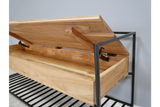 Acacia Solid Wood Storage Bench 7