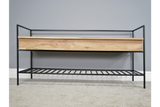 Acacia Solid Wood Storage Bench 9