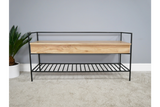 Acacia Solid Wood Storage Bench