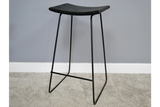 Acacia Solid Wood Black Bar Stool 2