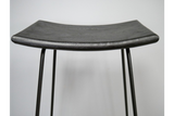 Acacia Solid Wood Black Bar Stool 4