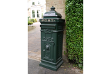 Aluminium Postbox Green