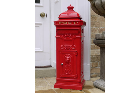 Aluminium Postbox Red