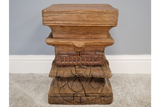 Antique Carved Solid Wood Stool 4