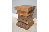 Antique Carved Solid Wood Stool 5
