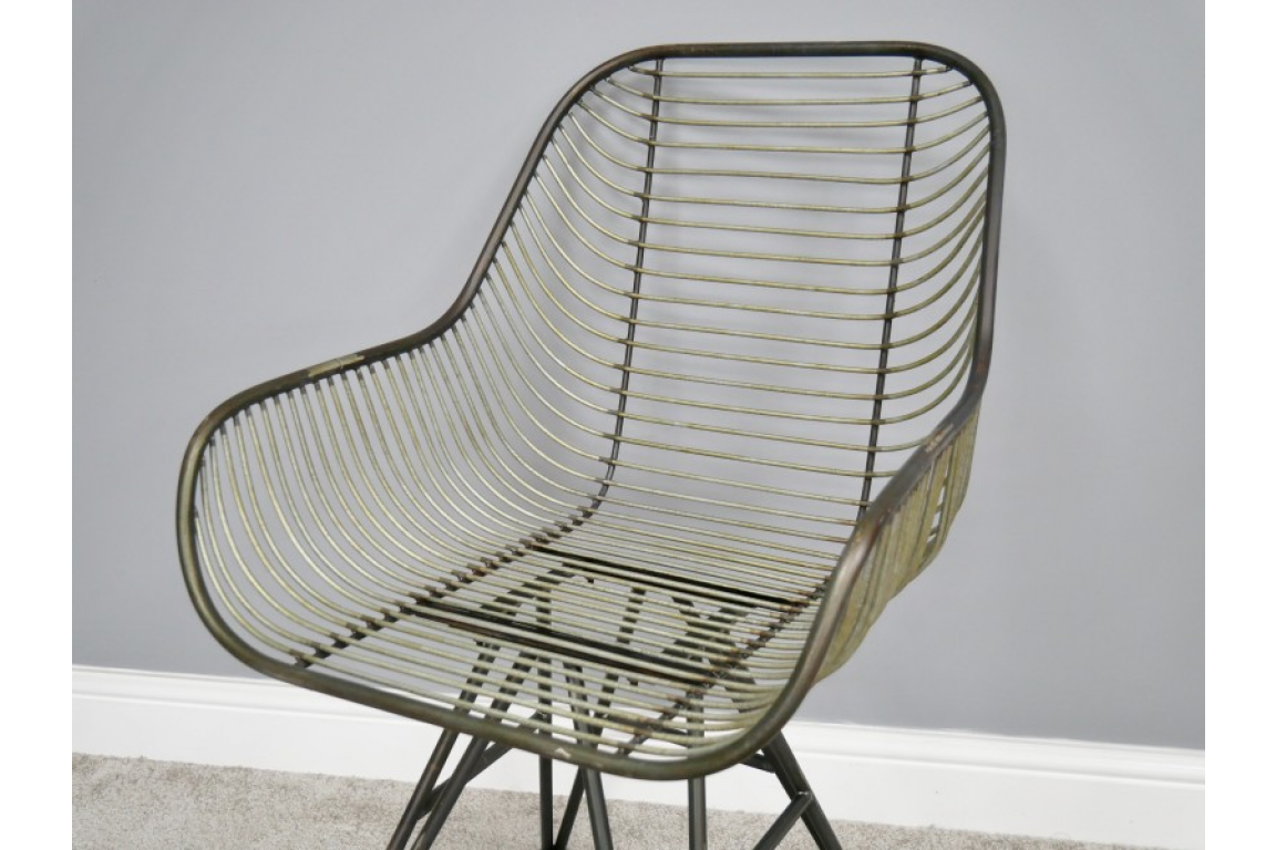 Curved Metal Chair 3