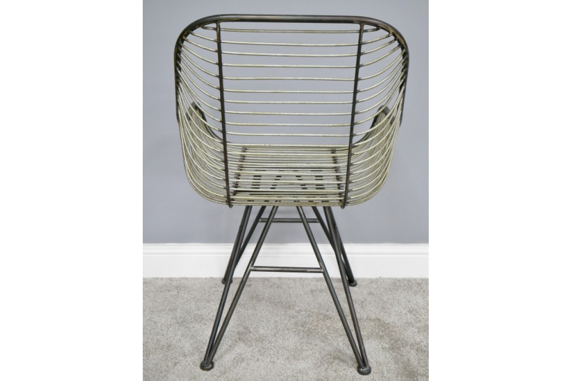 Curved Metal Chair 6