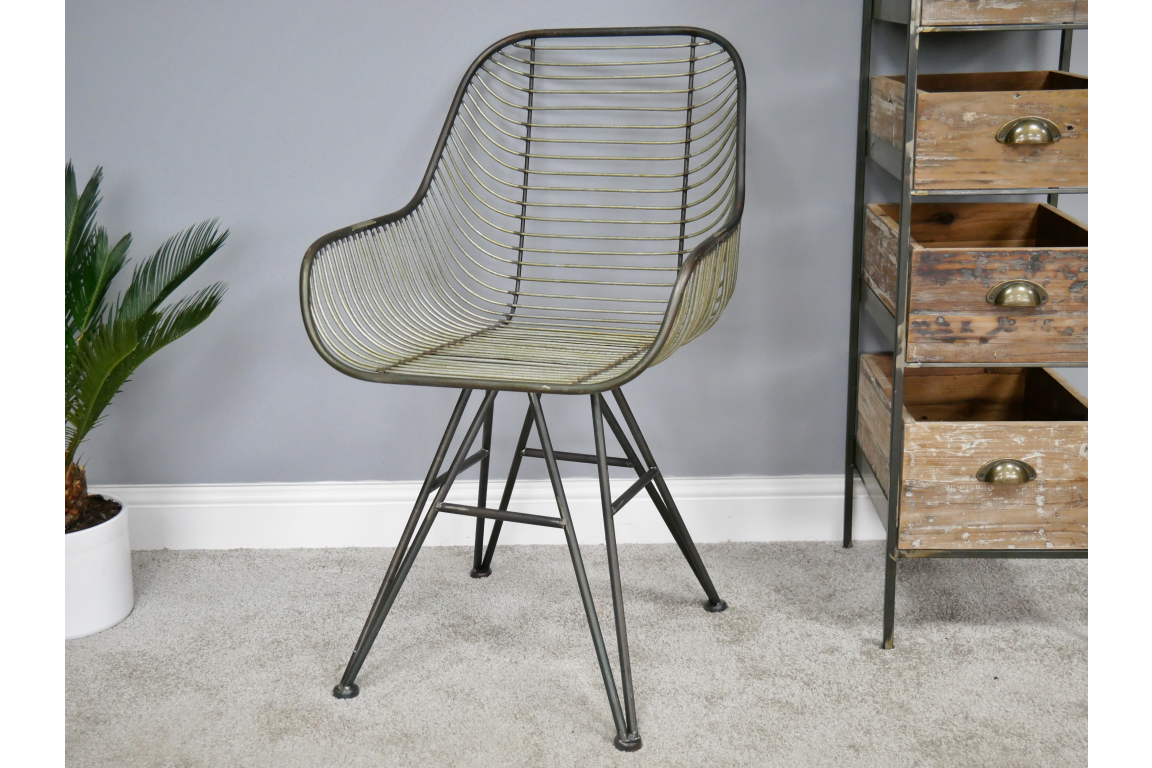 Curved Metal Chair 8