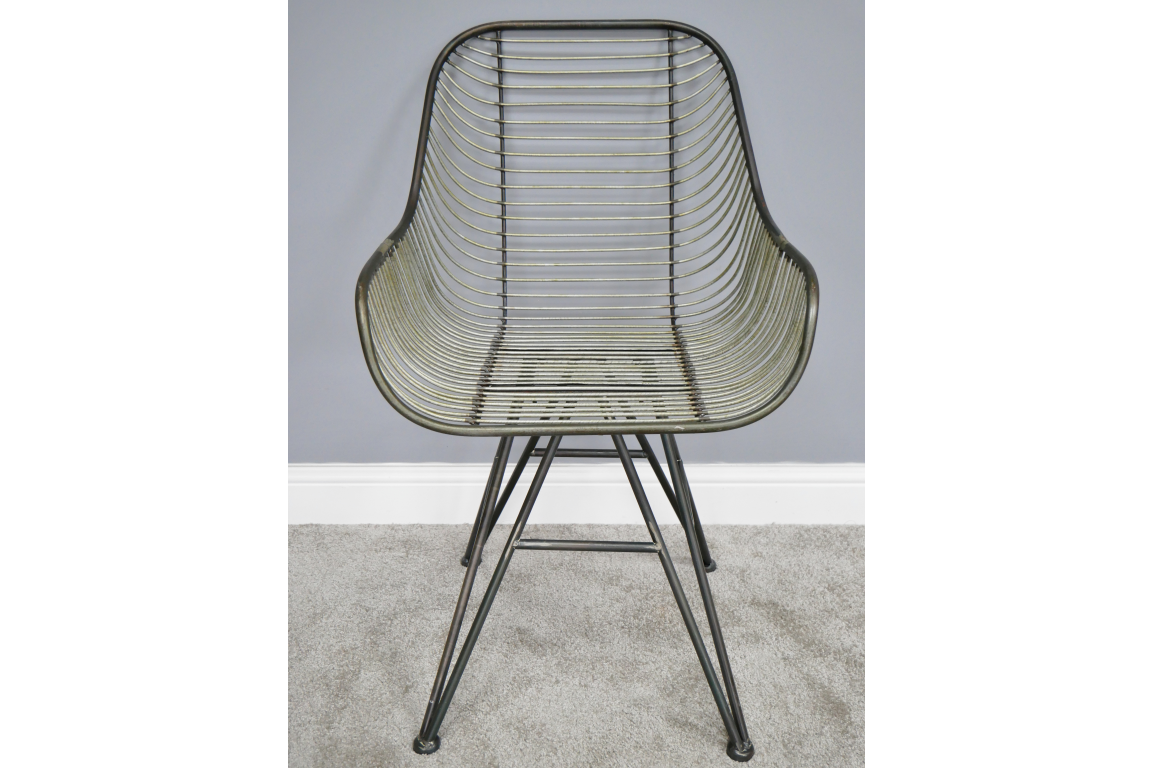 Curved Metal Chair 9