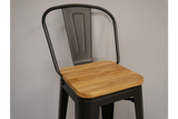 Elm Bar Stool High Back 2