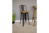 Elm Bar Stool High Back 3