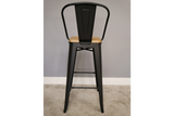 Elm Bar Stool High Back 6