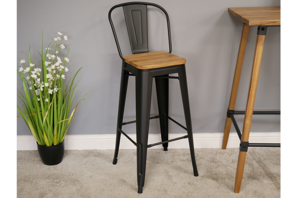 Elm Bar Stool High Back 7