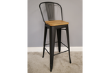 Elm Bar Stool High Back