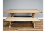 Elm Wood Dining Bench and Table