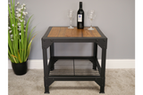 Elm Wood Industrial Side Table 7
