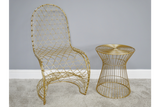 Fancy Gold Finish Chair 12
