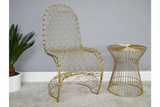 Fancy Gold Finish Chair 13