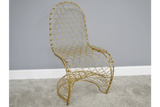 Fancy Gold Finish Chair 3