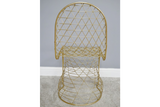 Fancy Gold Finish Chair 7