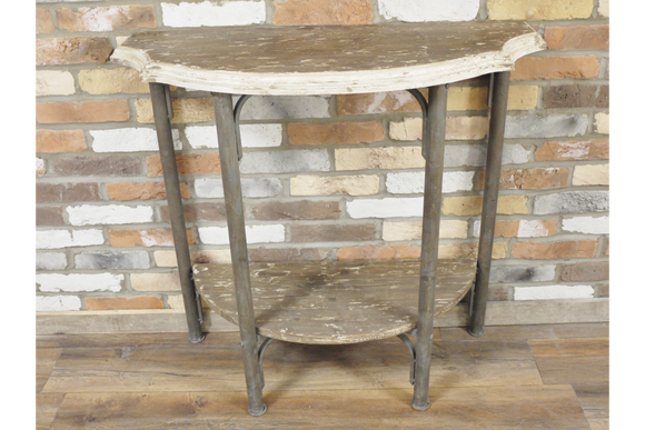 Vintage Half Moon 2 Tier Side Table