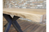 Living Edge Acacia Dining Table 5