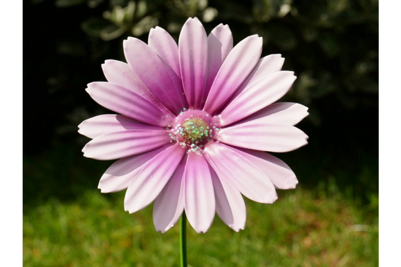 Metal Stake Flower Lilac Daisy