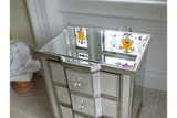 Mirrored Bedside Cabinet 2
