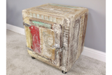 Reclaimed Wood Bedside Storage Cabinet 6