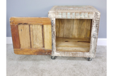 Reclaimed Wood Bedside Storage Cabinet 8