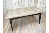 Recycled Birch Wood Dining Table 2