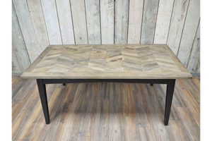 Recycled Birch Wood Dining Table