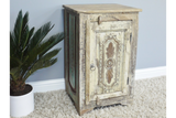 Recycled Wood Bedside Cabinet 10