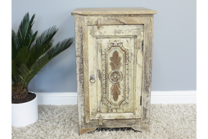 Recycled Wood Bedside Cabinet 7
