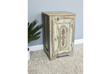 Recycled Wood Bedside Cabinet 9