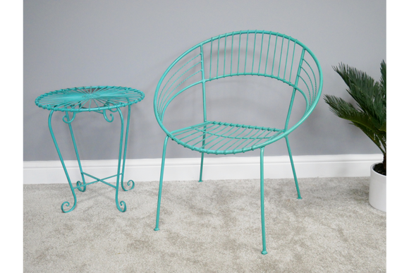 Retro Garden Chair Blue