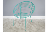 Retro Garden Chair Blue 4