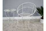 Retro Garden Chair White
