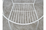 Retro Garden Chair White 3