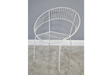 Retro Garden Chair White 5