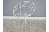 Retro Garden Chair White 6