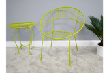 Retro Garden Chair Yellow 5