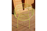 Retro Garden Chair Yellow
