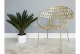 Rounded Gold Finish Chair 3