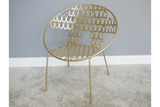 Rounded Gold Finish Chair 5