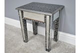 Silver Embossed Side Table 2