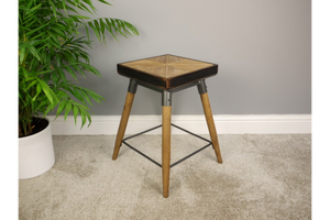 Small Square Wooden Stool 3